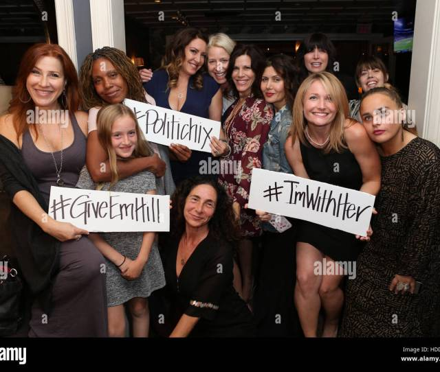 Iamwithher Fundraiser For Hillary Clinton Hosted By Joely Fisher Featuring Lisa Ann Walter Saskia Young Joely Fisher Tricia Leigh Fisher