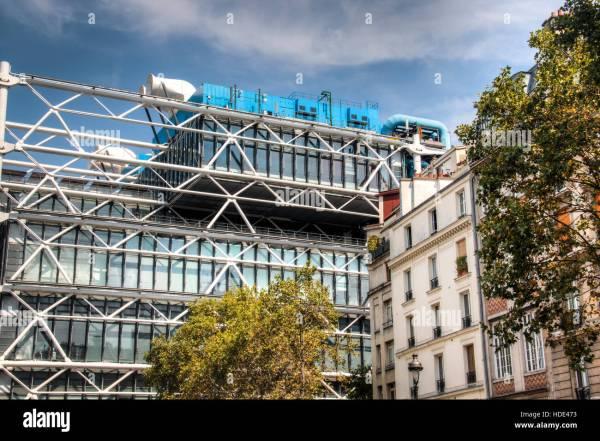 Famous Centre Pompidou Contemporary Art Museum In Paris France Stock Royalty Free