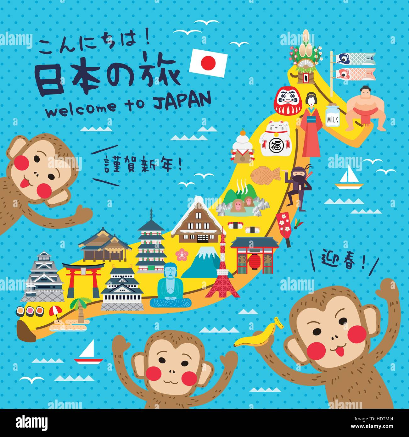 funny japan travel map