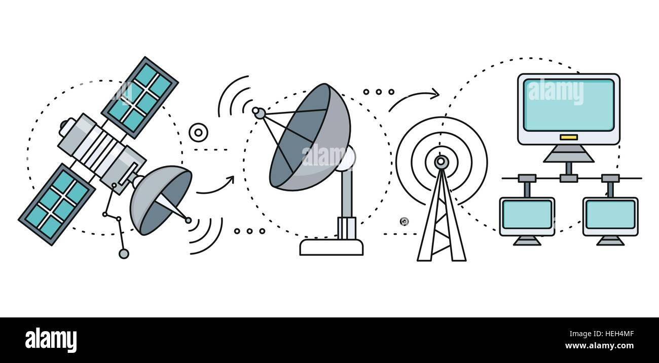 hight resolution of satellite internet global network providers technology wireless interconnection web traffic online connection and