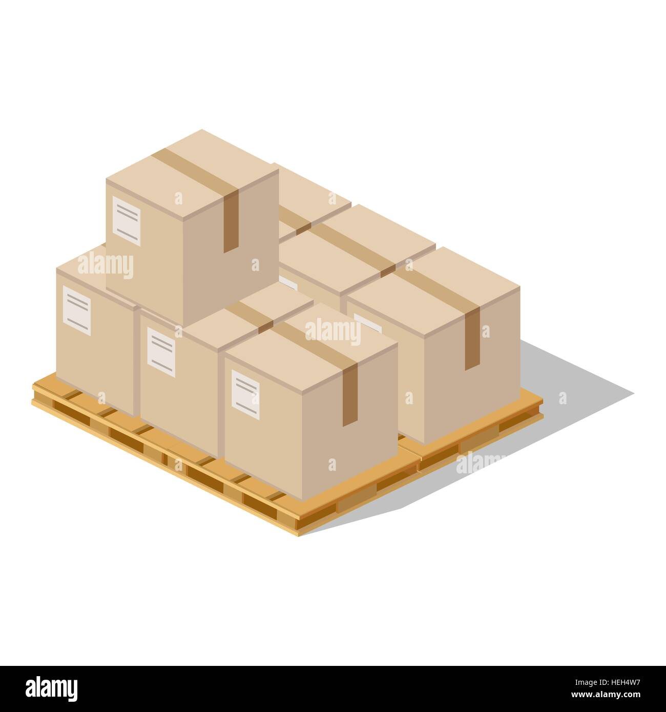 Packing Product Boxes Icon Design Style Box Delivery On