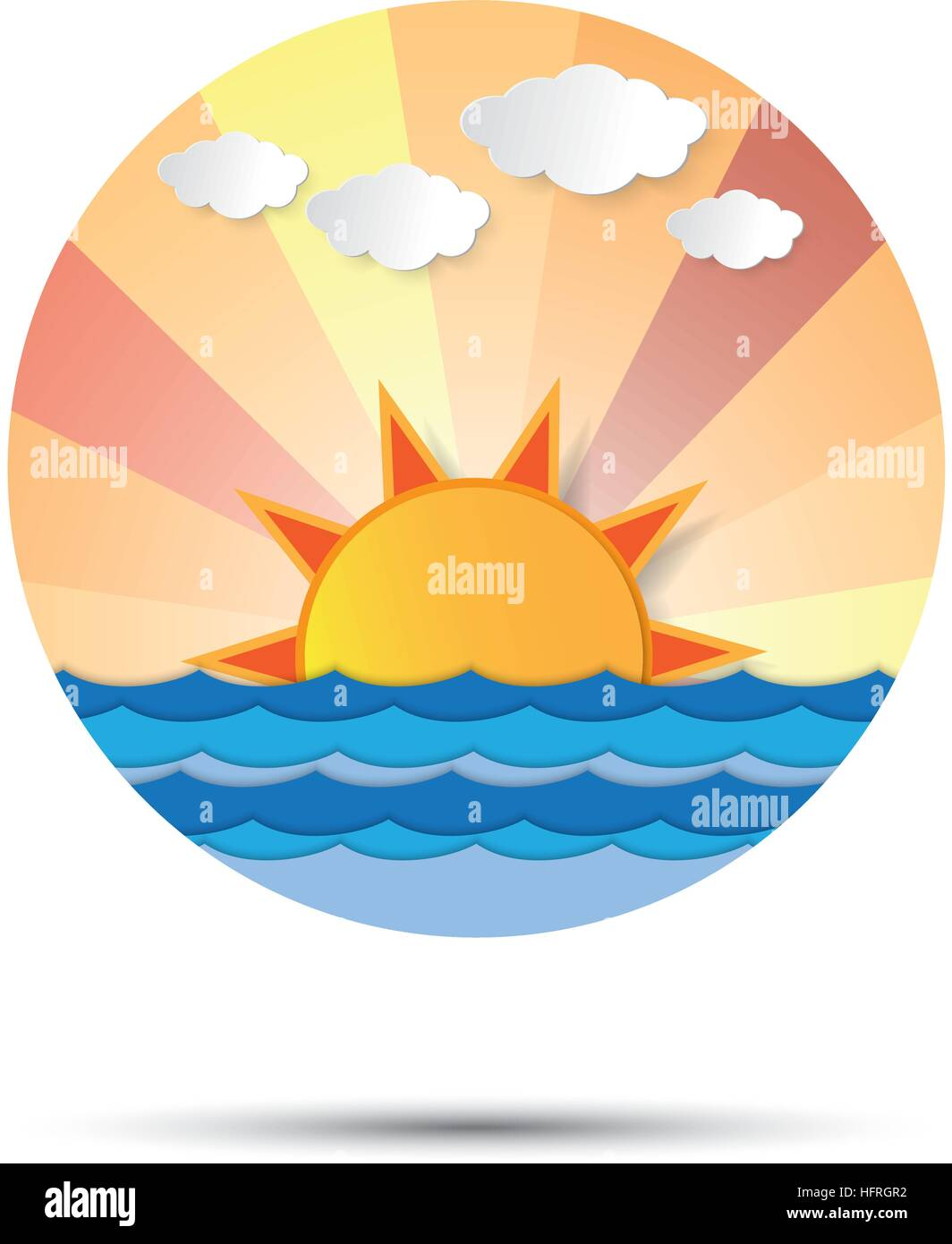Sunrise and sunset icon logo vector graphic design. sun rising or ...