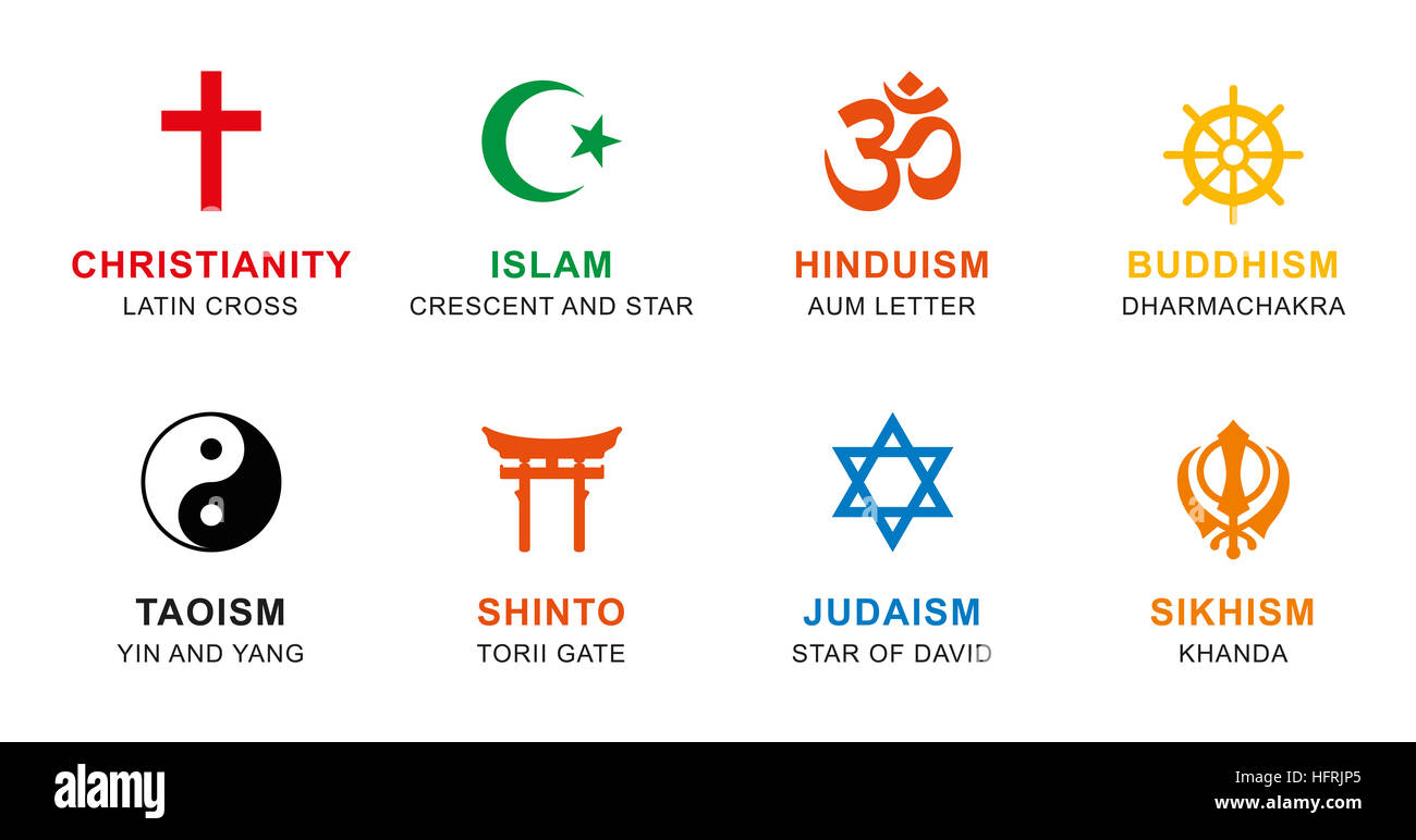 World Religion Symbols Chart Pictures To Pin