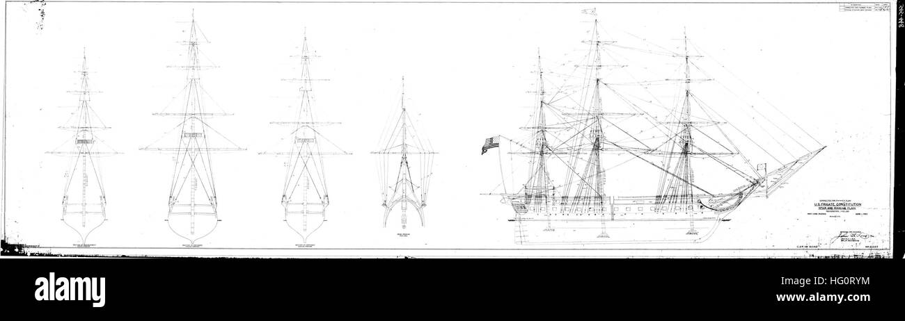 uss constitution rigging diagram baldor single phase 230v motor wiring plan stock photos images alamy