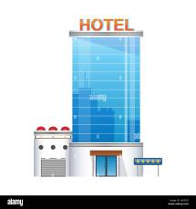 Five-star Hotel Building 3d Icon Stock Vector Art