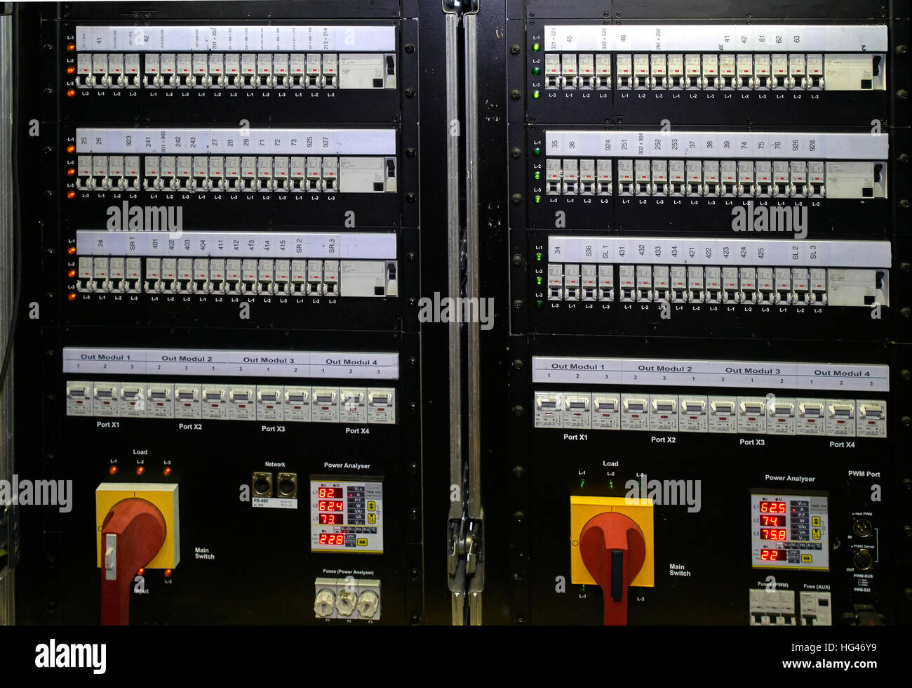 hight resolution of fuse box with switch and lights stock image