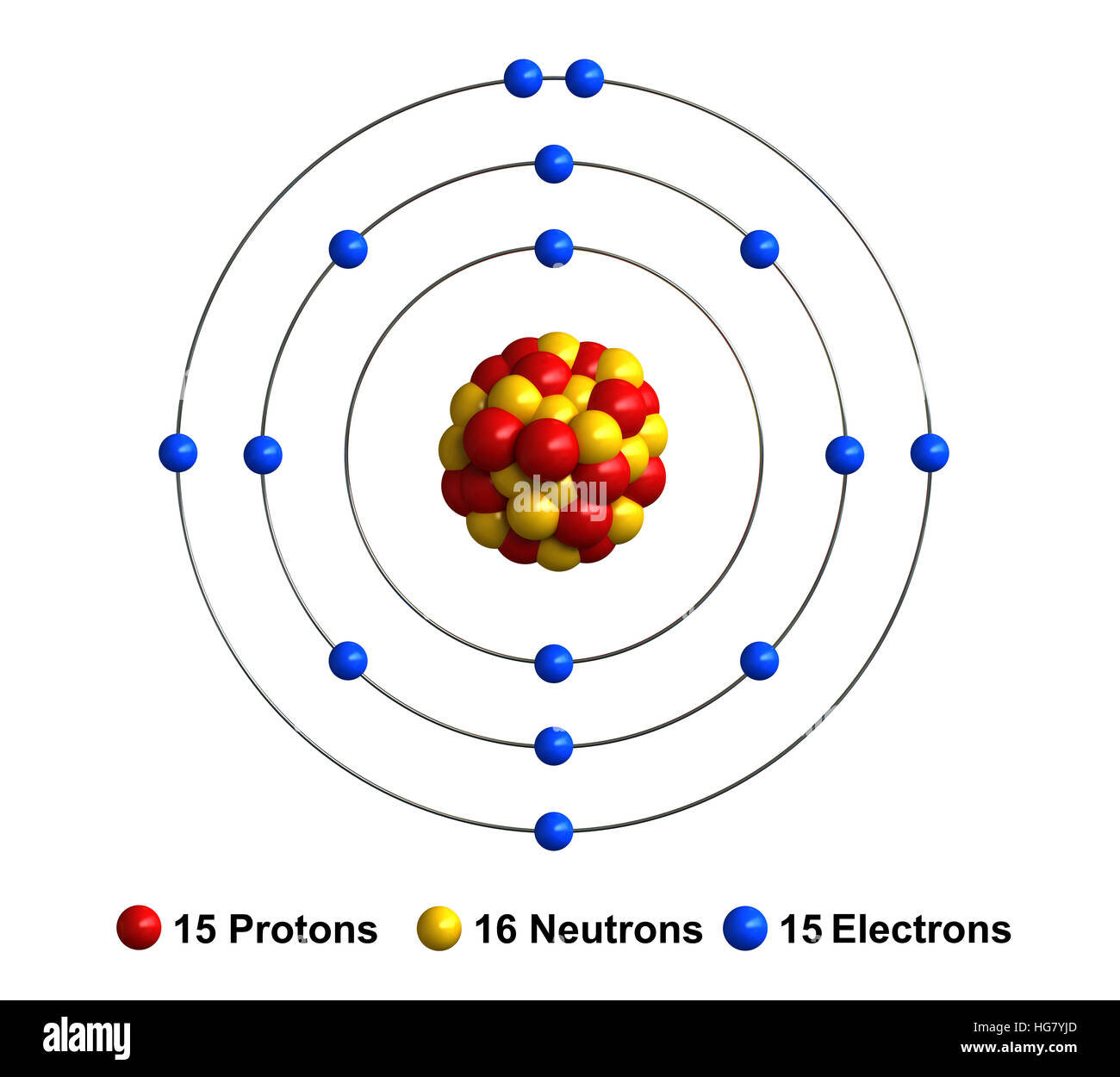 sodium atom diagram land rover discovery trailer wiring protons neutrons stock photos and