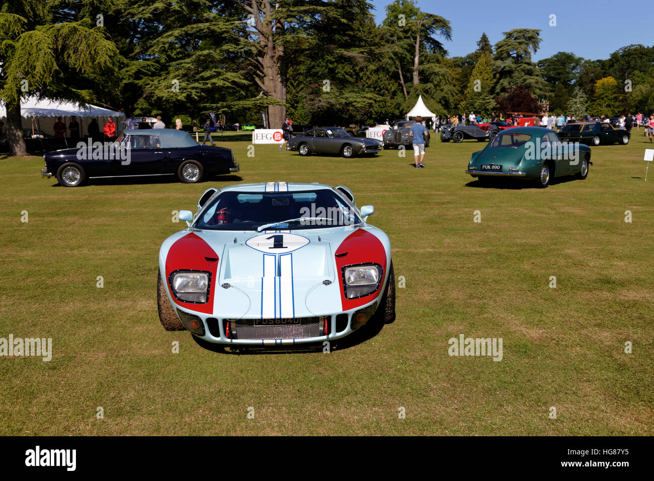 hight resolution of a ford gt40 endurance racing car at the wilton classic supercar show wilton house