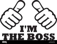 I'm the boss t-Shirt design with thumbs Stock Vector Art ...