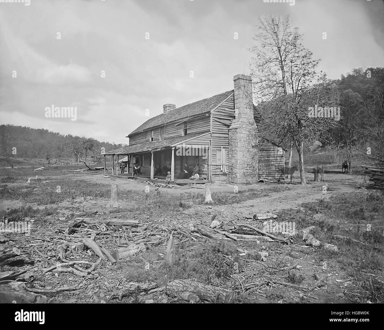 John Ross House Near Ringgold Georgia During The