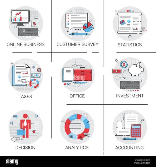 small resolution of online business analysis statistics finance diagram office work icon set