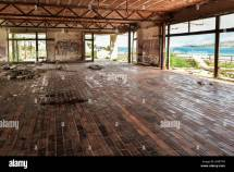 Graffiti Abandoned Hotel Stock &