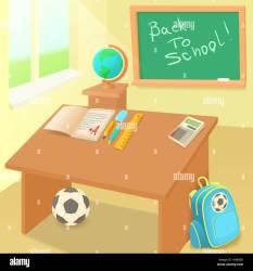 School classroom in cartoon style Stock Vector Image & Art Alamy