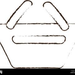 Sketch Diagram Online 2003 Nissan 350z Wiring Draw Basket Shopping E Commerce Stock Vector Art
