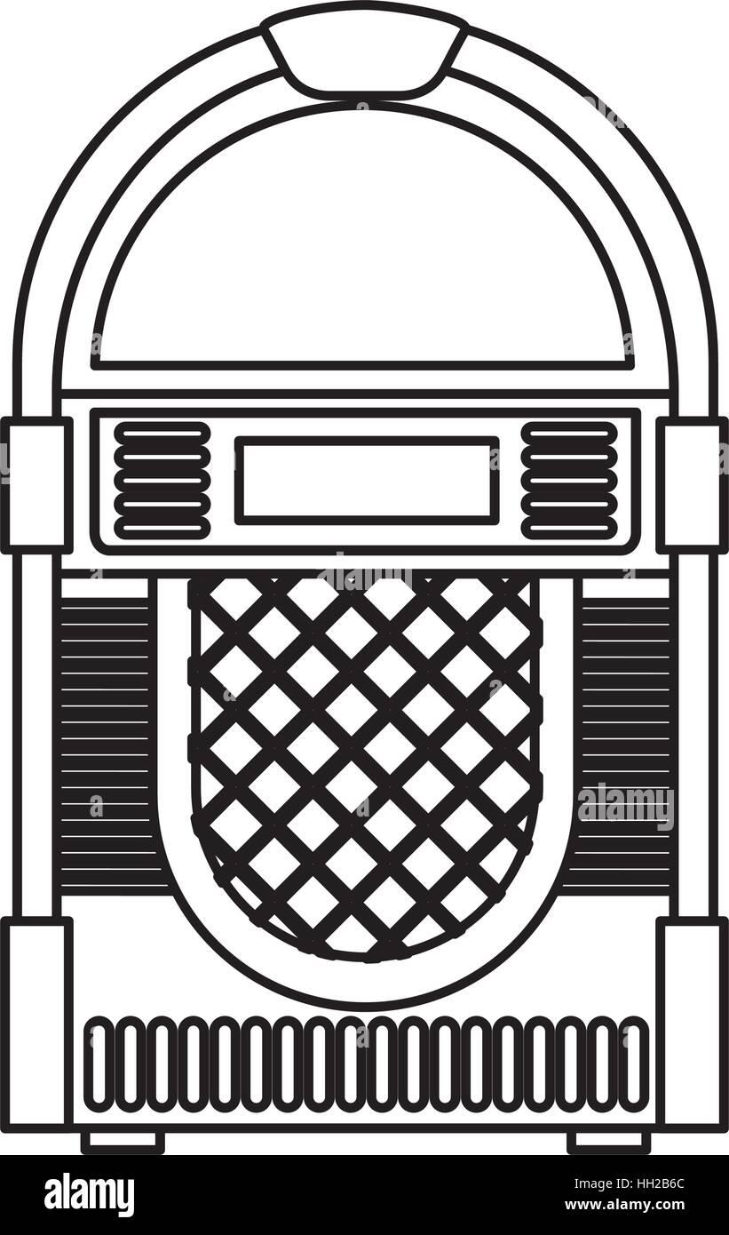 medium resolution of jukebox audio isolated icon vector illustration design stock vector