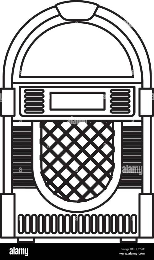 small resolution of jukebox audio isolated icon vector illustration design stock vector