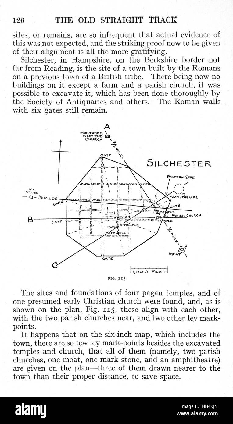 medium resolution of a page from the book the old straight track by alfred watkins with