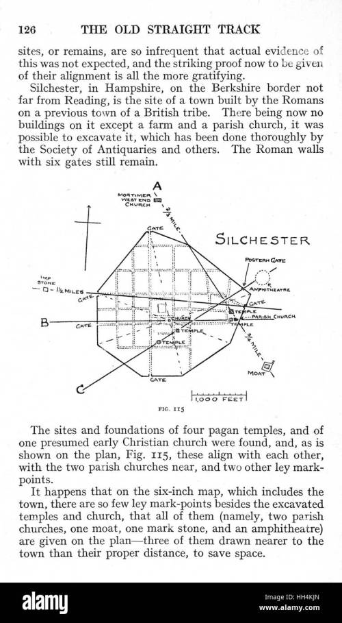 small resolution of a page from the book the old straight track by alfred watkins with
