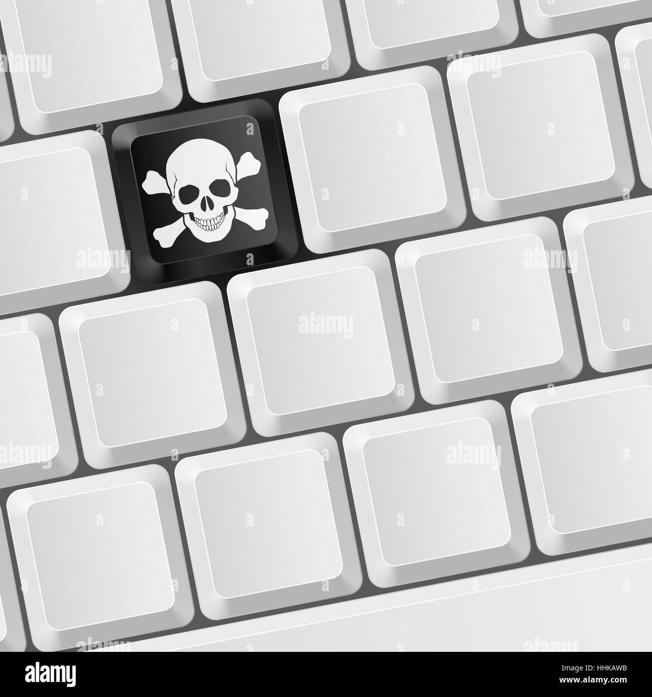 danger office keyboard pc