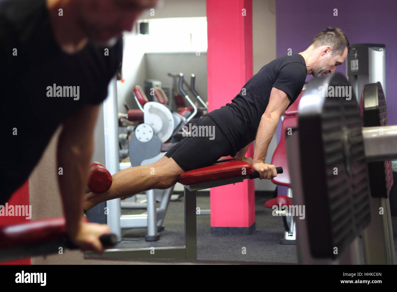 gym chest chair thomasville company man doing exercise using roman in stock photo 131348413