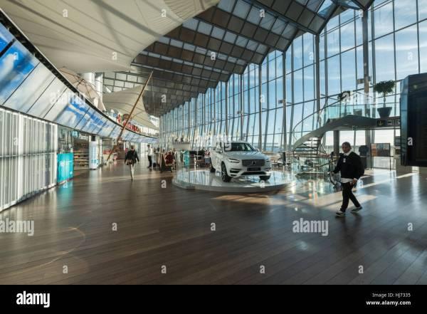 Interior Arlanda Airport Stockholm Sweden Stock