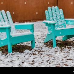 Aqua Adirondack Chairs Bruno Chair Lift Parts Ranch Santa Fe Stock Photos And Images