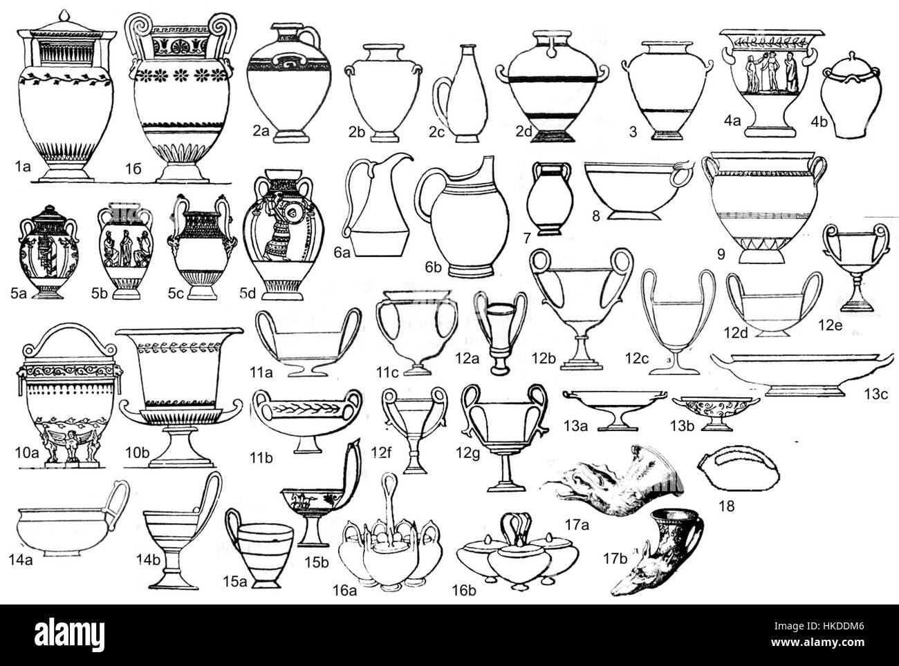 Shapes Of Ancient Greek Pottery Stock Photo
