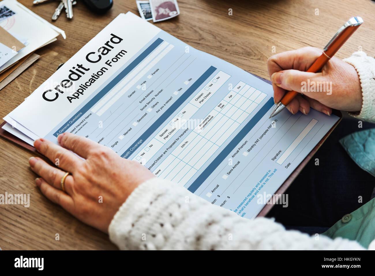 Credit Card Application Form Concept