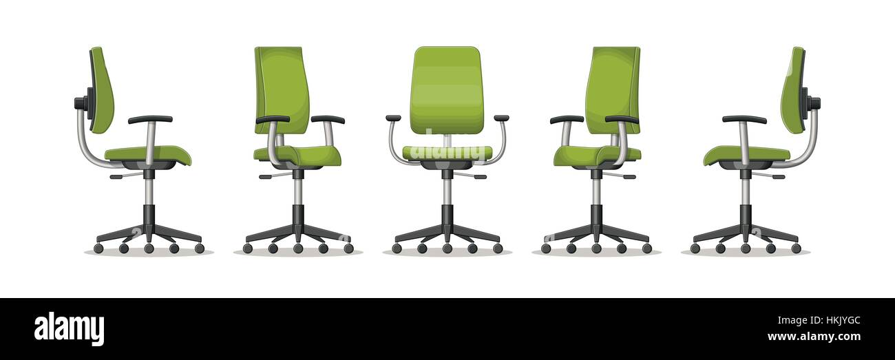 office chair vector makeup table and illustration of an in different perspectives stock