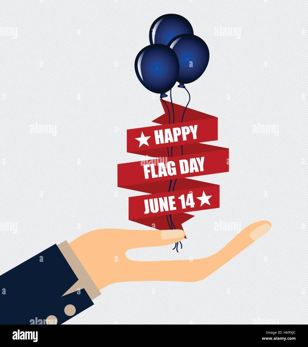 medium resolution of american flag day 14 of june flag day vector illustration