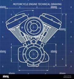 technical drawings of motorcycle engine motor engineering concept diagram motorcycle engine art [ 1300 x 1390 Pixel ]