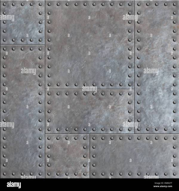 Metal Plate with Rivets Texture