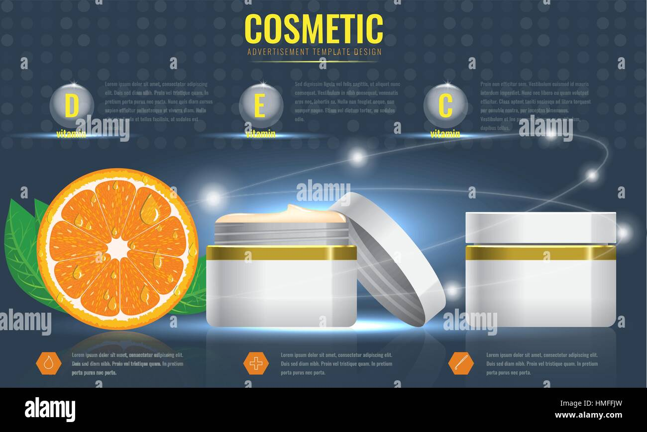 cosmetic ads template blank