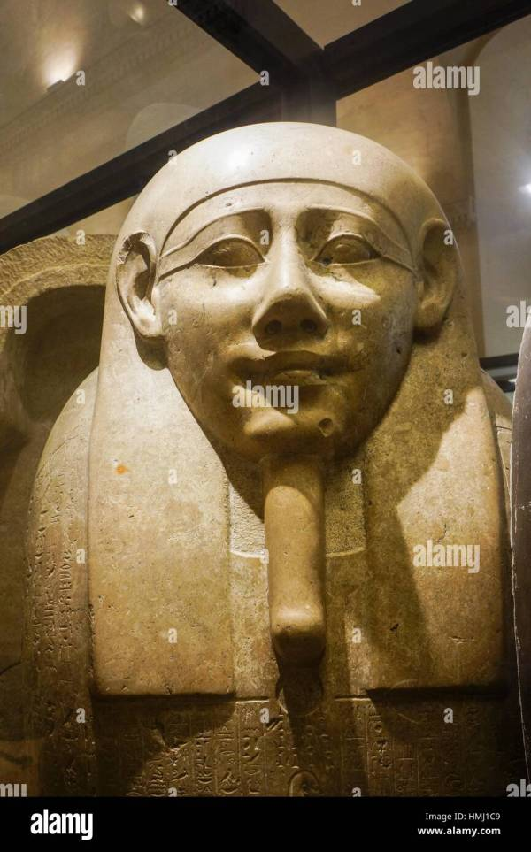 Sarcophagus Of Imhotep. Egyptian Pharaonic Collection. Louvre Museum Stock 133161961 - Alamy