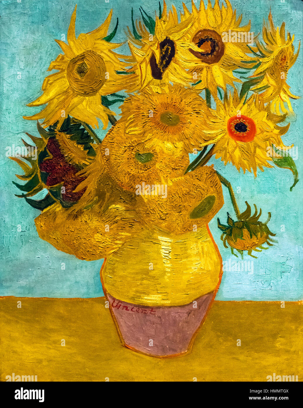 Van Gogh Sunflowers Stock Photos  Van Gogh Sunflowers Stock Images  Alamy