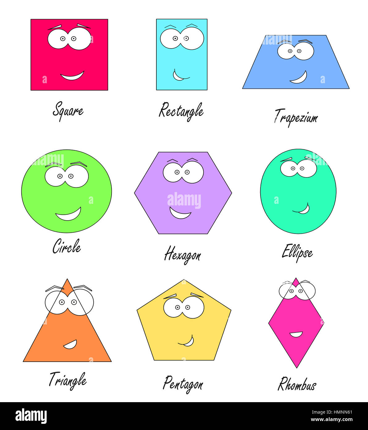 geometric shapes with funny