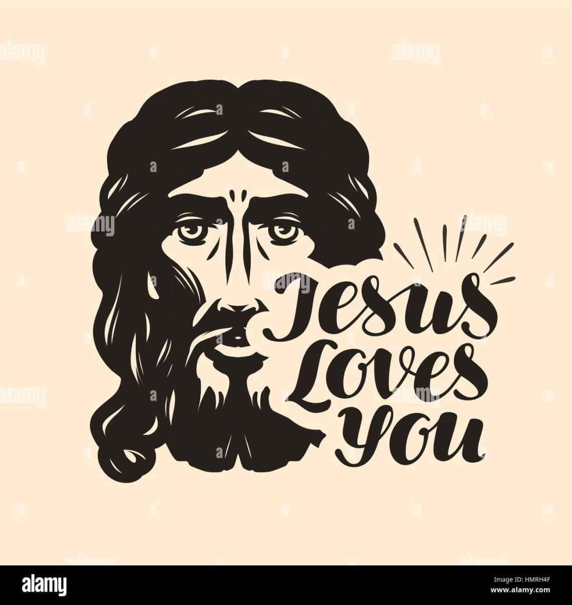Download Jesus Loves You. Biblical illustration. Christian ...