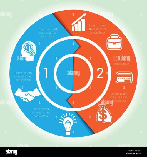 small resolution of template cyclic diagramme for infographic two position area chart ring arrows pie chart stock