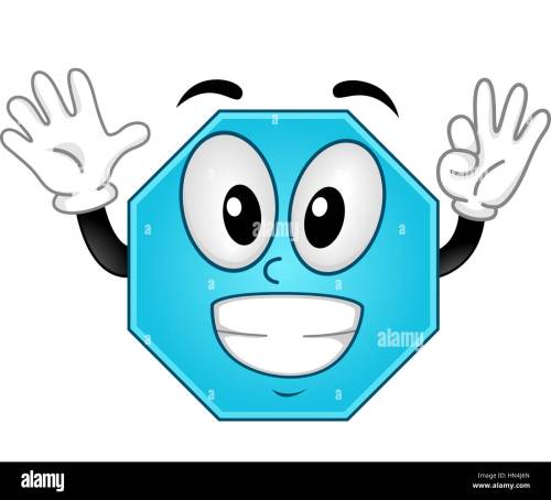 small resolution of mascot illustration of an octagon showing eight fingers stock image