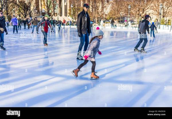 Downtown Ice Rink Stock & - Alamy