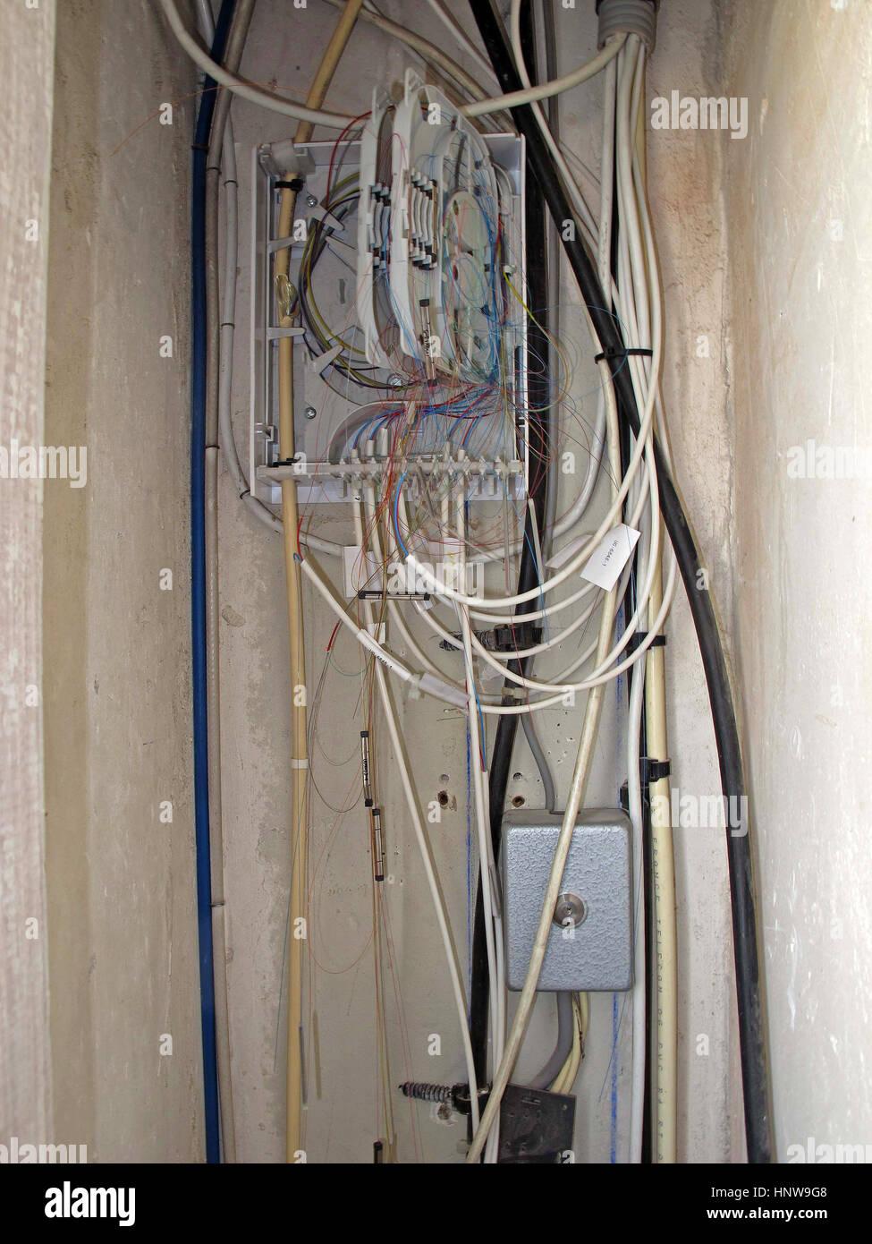 medium resolution of optical fiber cable junction box hi tech internet television phone paris france europe