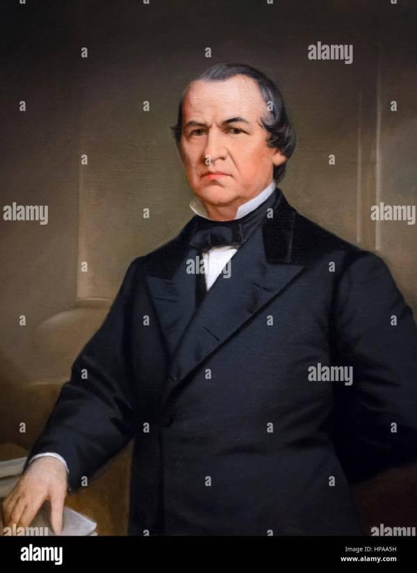 Andrew Johnson Portrait Of The 17th Us President Andrew