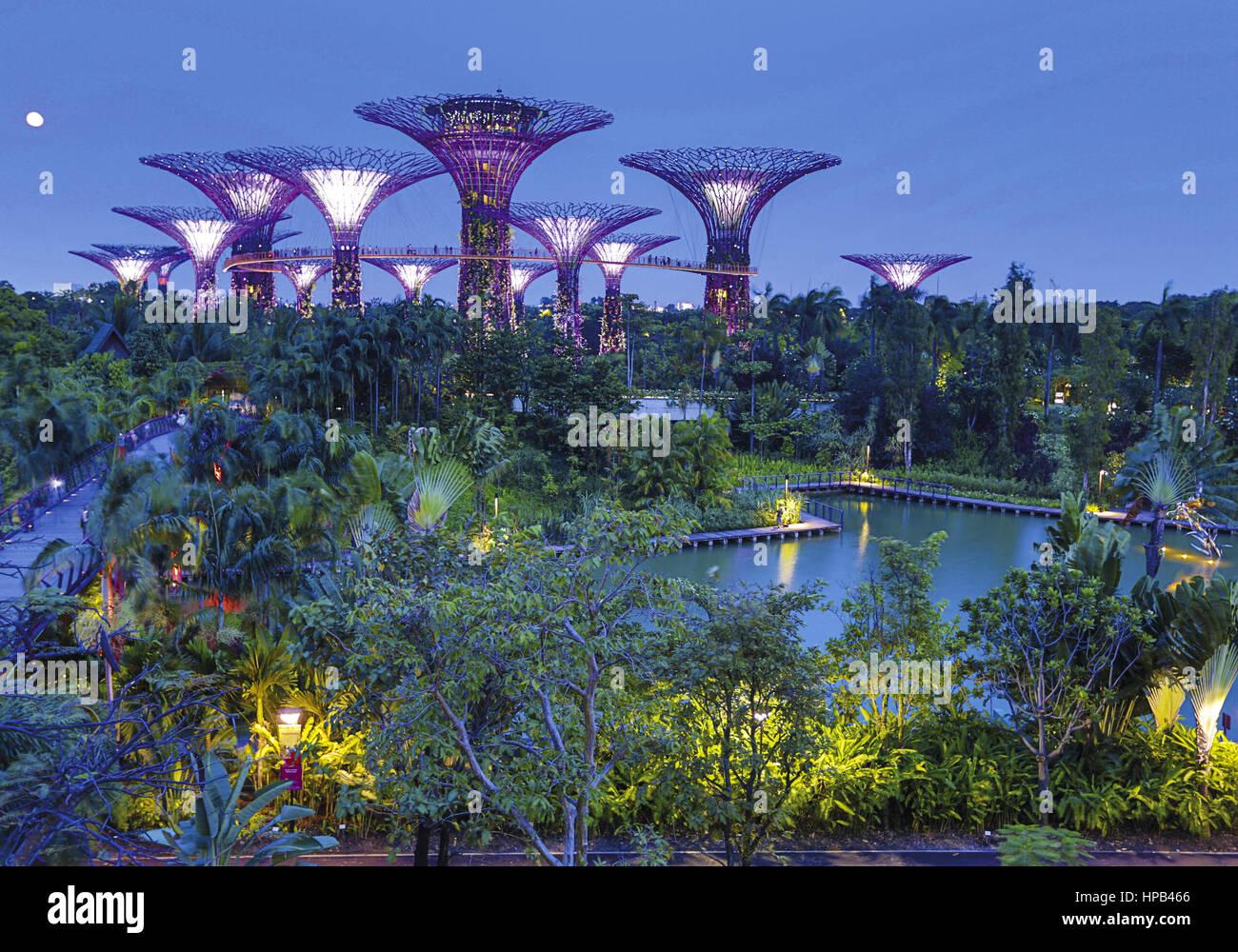 Singapur Botanischer Garten Stock Photo Royalty Free Image