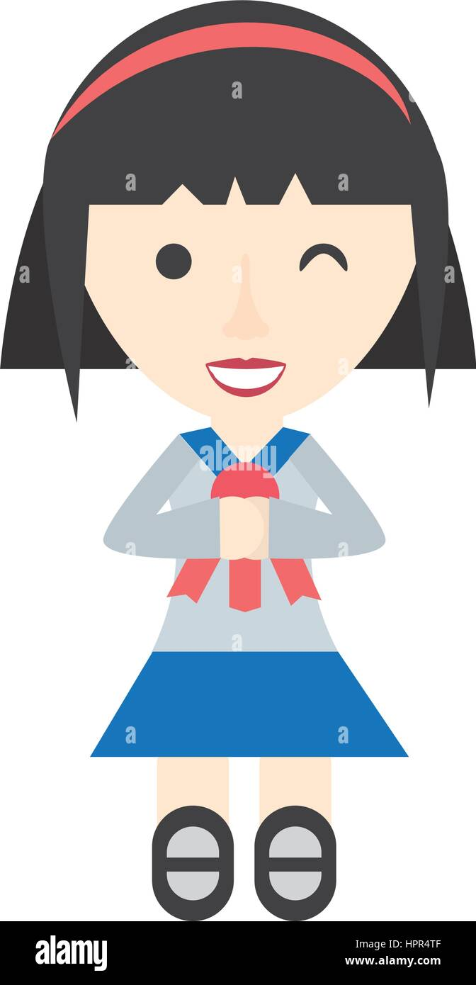 hight resolution of japanese girl student uniform
