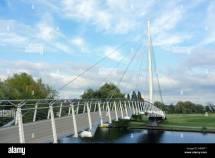 Suspension Bridge Nature Countryside Stock