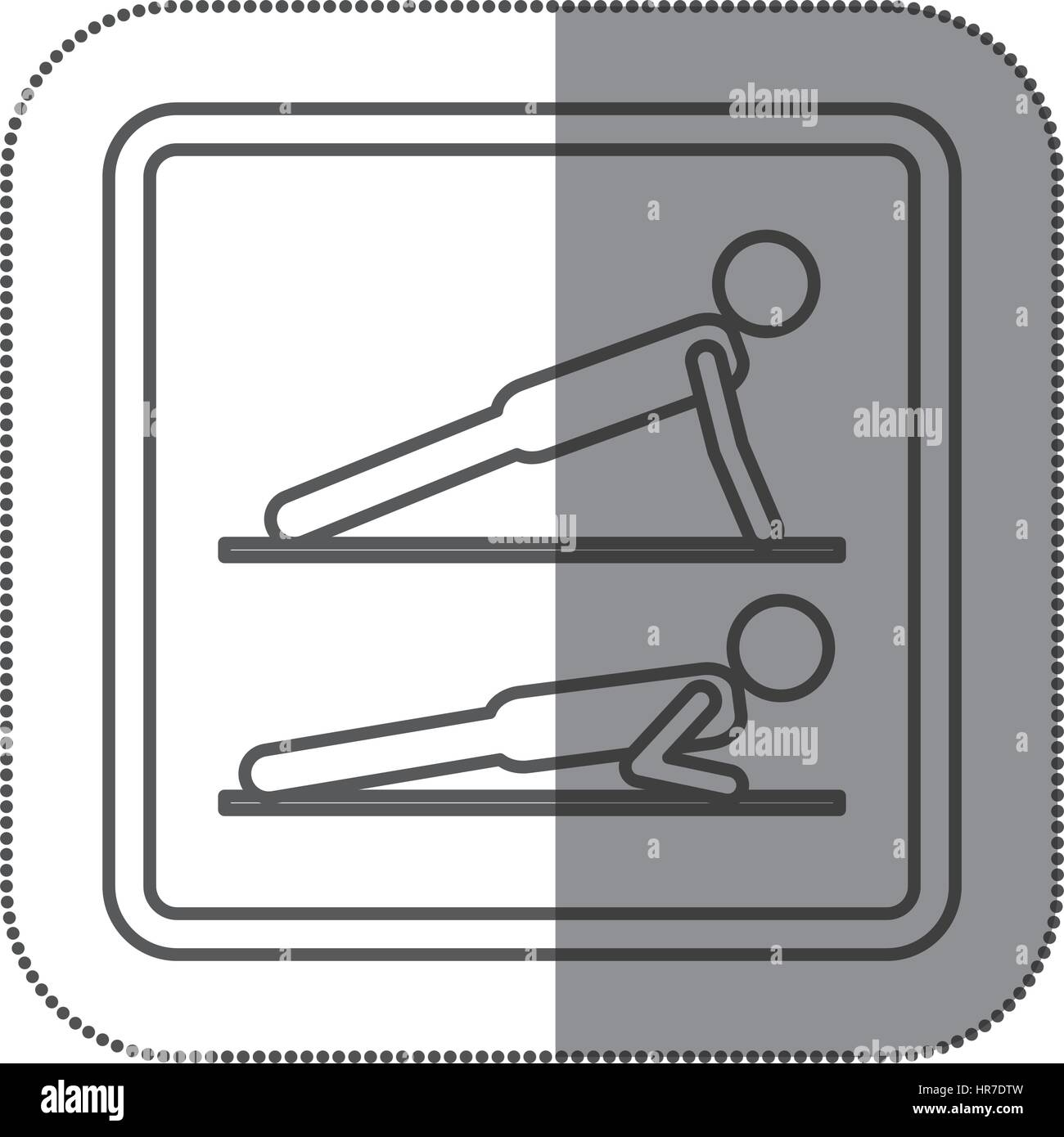 hight resolution of figure person doing planks icon