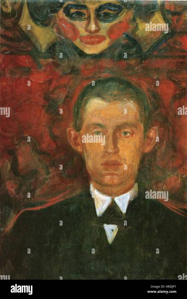 Edvard Munch Portrait Stock & - Alamy