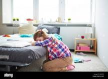 Sad Teen Girl Crying Alone