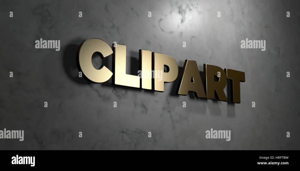 medium resolution of clipart gold sign mounted on glossy marble wall 3d rendered royalty free stock illustration this image can be used for an online website banner