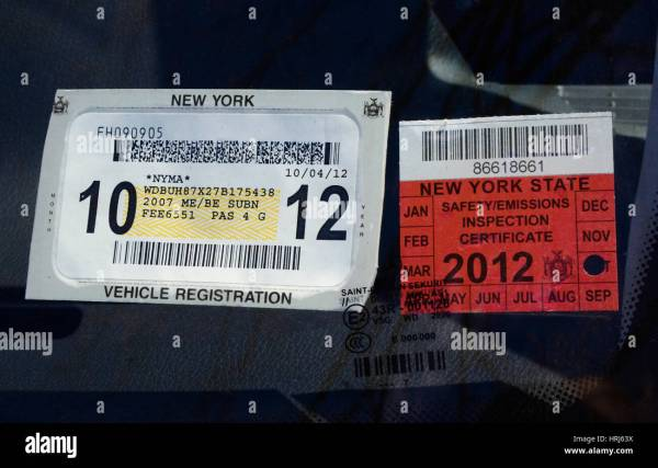 Nys Temporary Inspection Sticker - Year of Clean Water